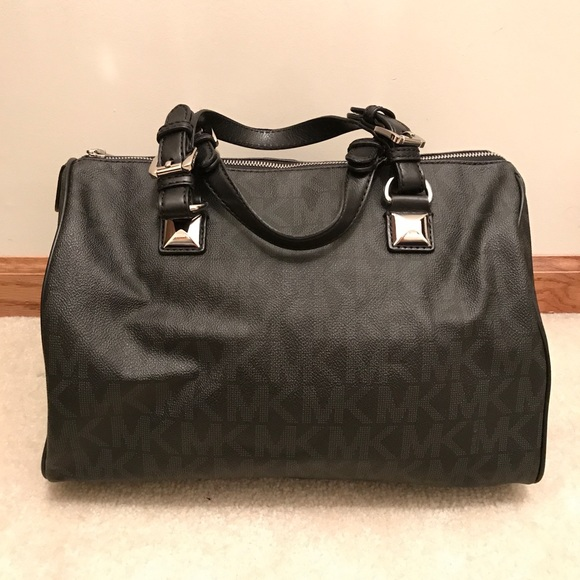 michael kors bags black grayson satchel handbag poshmark rh poshmark com